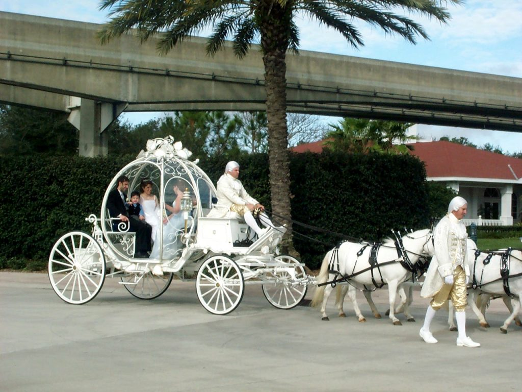 Cinderella Coach at Disney's Wedding Pavilion for our Vow Renewal.