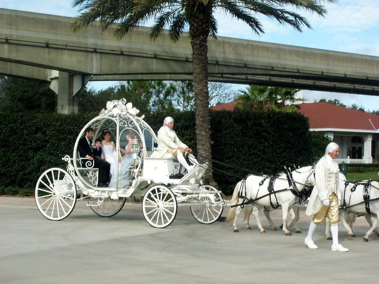 Cinderella Coach at Disney's Wedding Pavilion for our Vow Renewal.