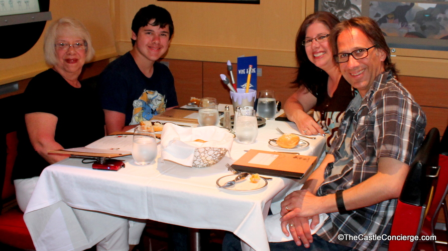 Family gathering inside Animator's Palate aboard the Disney Dream