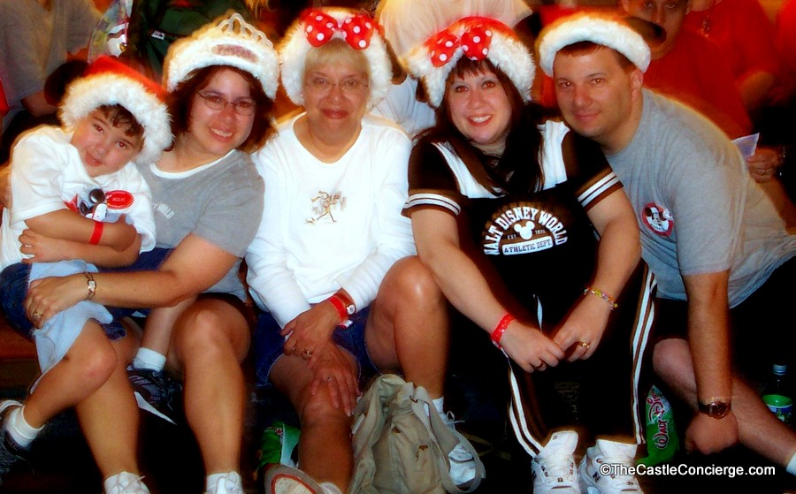 Making memories at the Once Upon a Christmastime Parade, Magic Kingdom