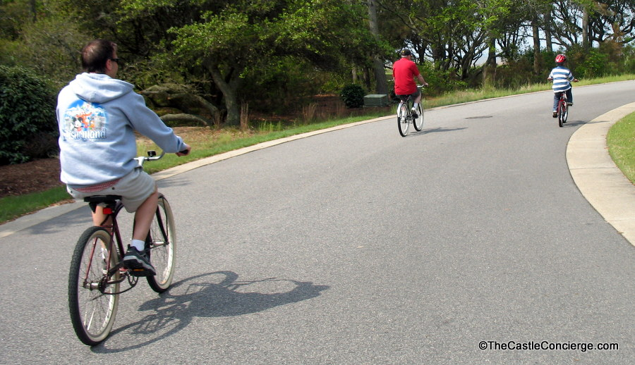 On a family trip, riding bikes is a fun activity for all ages