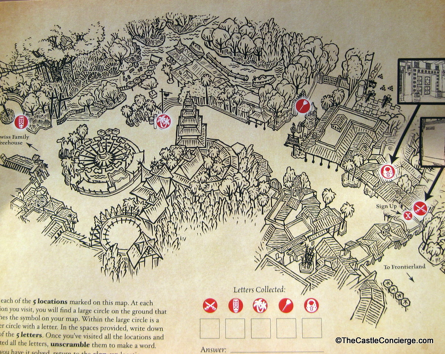 A Pirate's Adventure Treasures of the Seven Seas Map Magic Kingdom