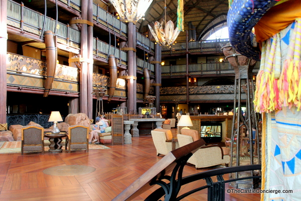 Animal Kingdom Lodge Lobby at WDW