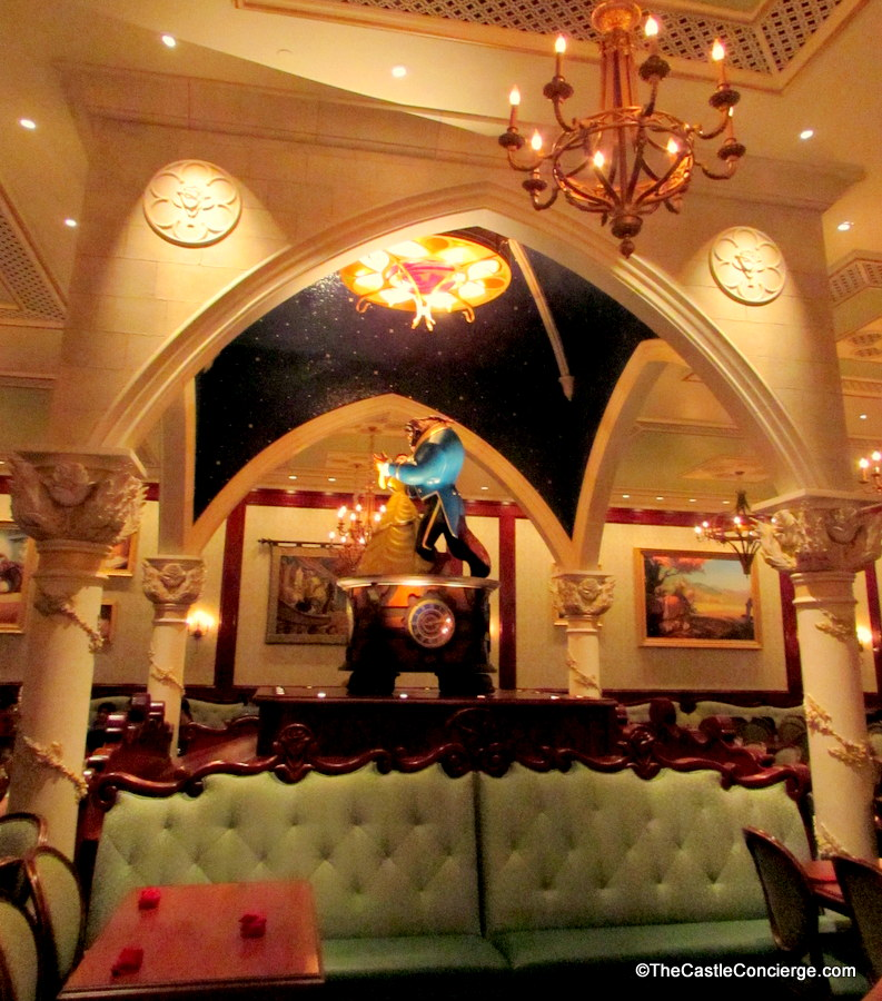 Rose Gallery inside Disney's Be Our Guest Restaurant