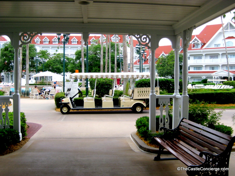 Disney's Grand Floridian offers Bell Services for your luggage needs.