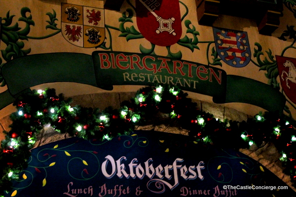 Biergarten in Epcot's Germany pavilion is a great place for a holiday meal