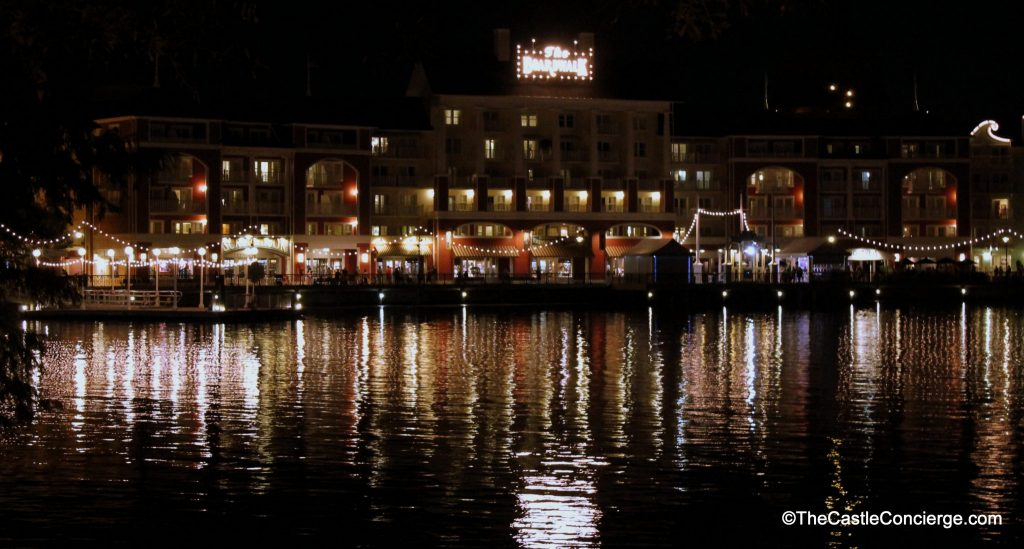 Evening at the BoardWalk Resort at WDW.
