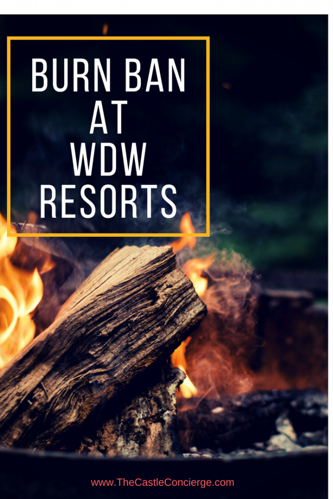 Burn Ban at WDW Resorts. Click for more information.