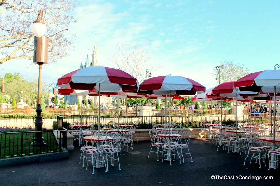 The tables outside Casey's Corner afford magical views in the early morning. A great place to bring your pastry and coffee.