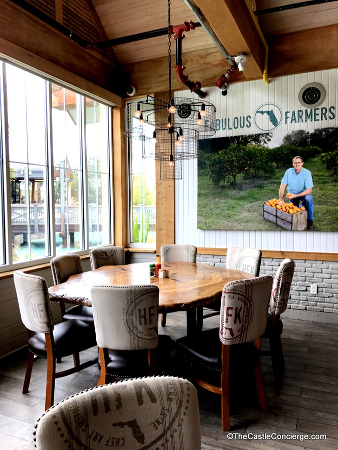 Local farmers are featured in the dining room at Chef Art Smith's Homecomin'.