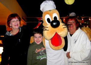 Pluto at Chef Mickey's at Disney's Contemporary Resort