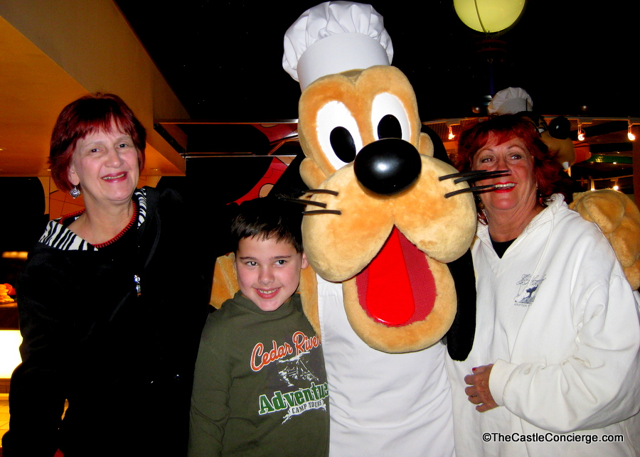 Pluto at Chef Mickey's at Disney's Contemporary Resort