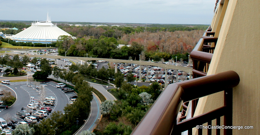 Contemporary Resort View of Space Mountain in Magic Kingdom in Walt Disney World