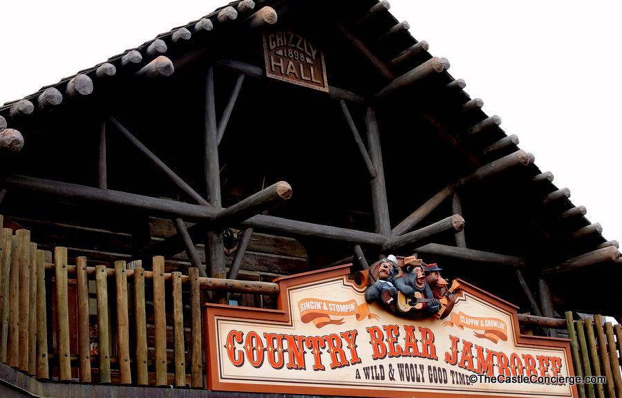 Country Bear Jamboree sign at Grizzly Hall