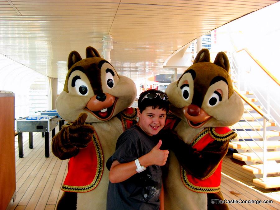 Disney characters aboard the Disney Magic cruise ship