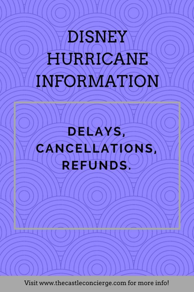 Disney Hurricane Information