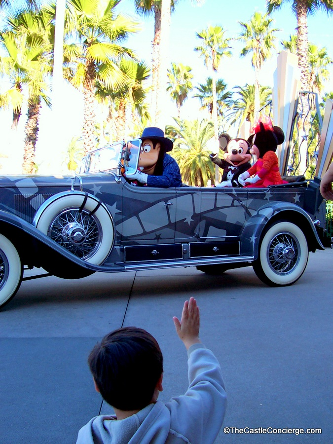 Mickey and Minnie were stars of the Disney Stars and Motor Cars Parade.
