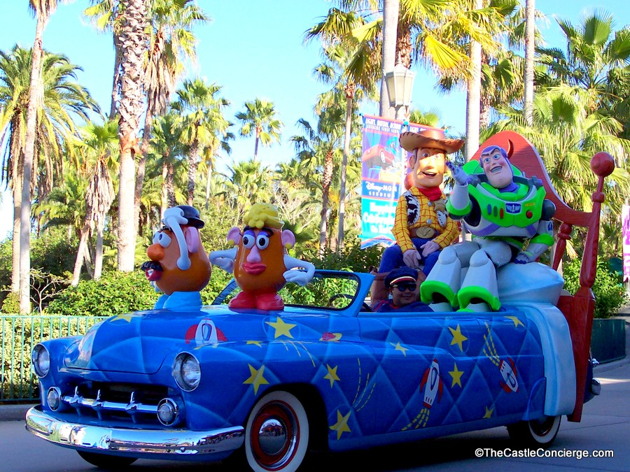 Disney Stars and Motor Cars Parade featured a Toy Story Float.
