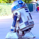 Disney Stars and Motor Cars Parade featured R2-D2.