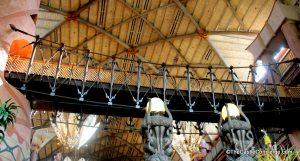 The bridge inside Disney's Animal Kingdom Lodge Lobby