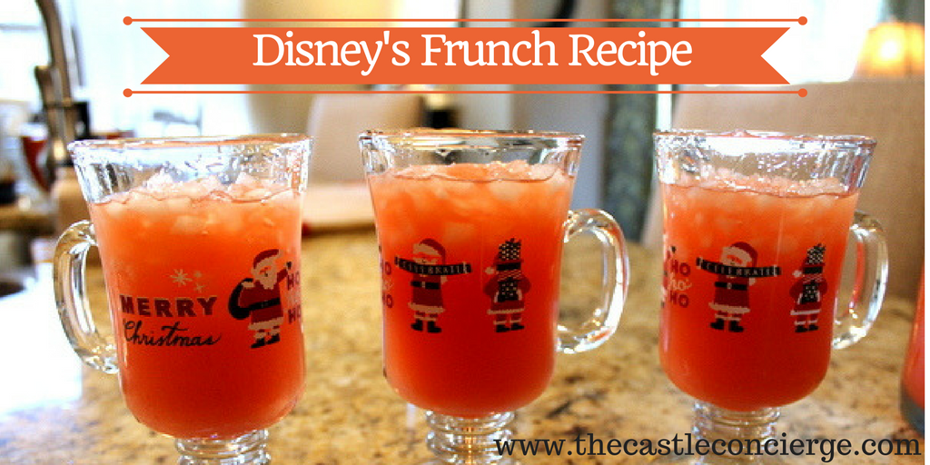 Disney's Frunch Recipe is made with tropical juices.
