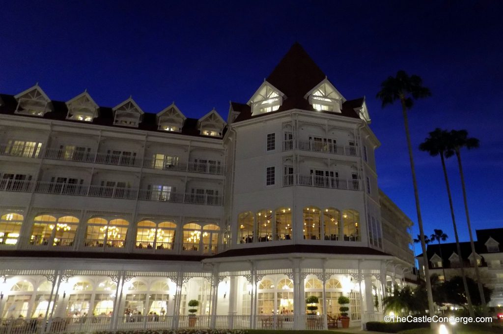 Disney's Grand Floridian at night.