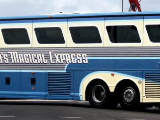 Disney's Magical Express bus transports guests between the Orlando International airport and WDW resort hotels.