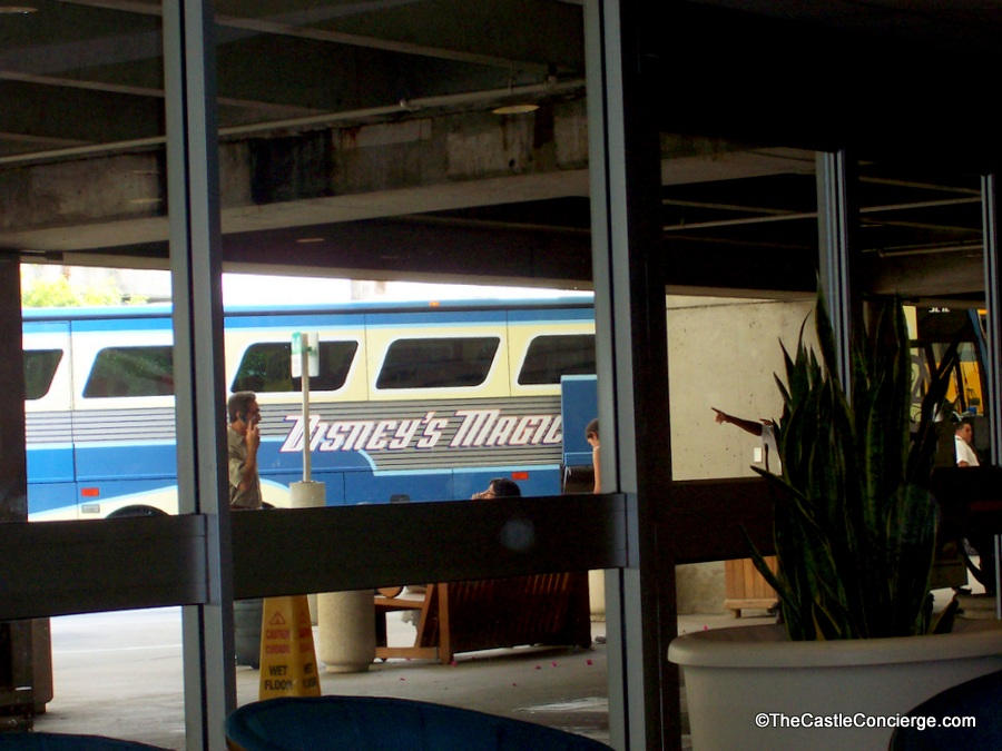 Orlando International Airport MCO boarding for Disney's Magical Express.
