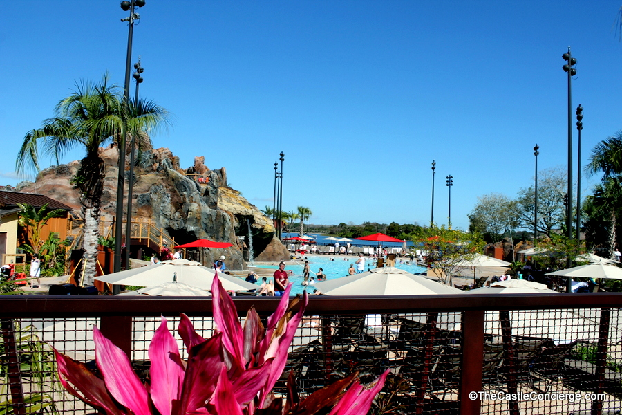 Guests of all ages love to swim at the Nanea Volcano Pool at Disney's Polynesian Village Resort.
