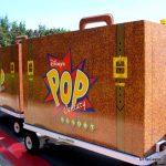 Luggage carts at Disney's Pop Century.
