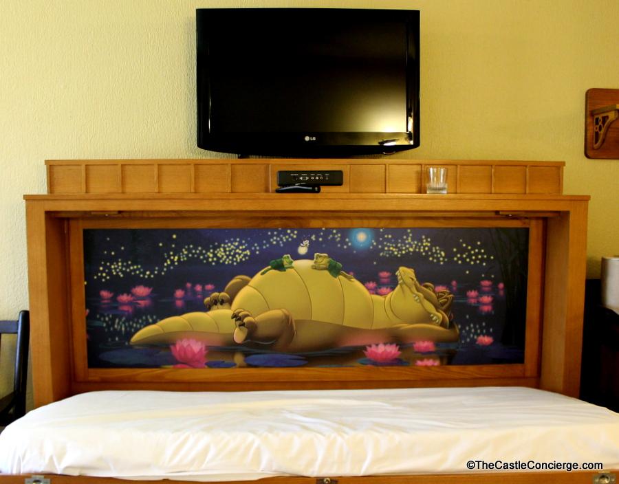 Disney's Port Orleans Riverside Alligator Bayou Room Murphy Bed