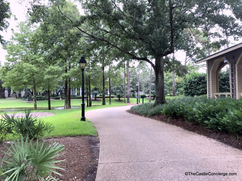 Romantic walkway at Disney's Port Orleans Riverside.