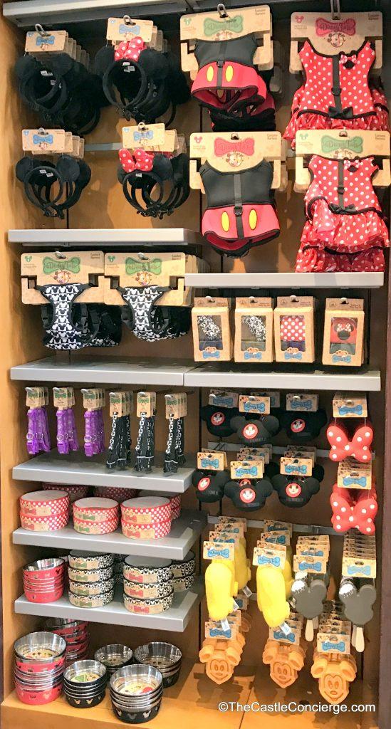 Dog merchandise is sold at Walt Disney World.