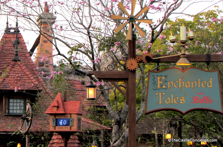 Get a FastPass Plus for Enchanted Tales with Belle.