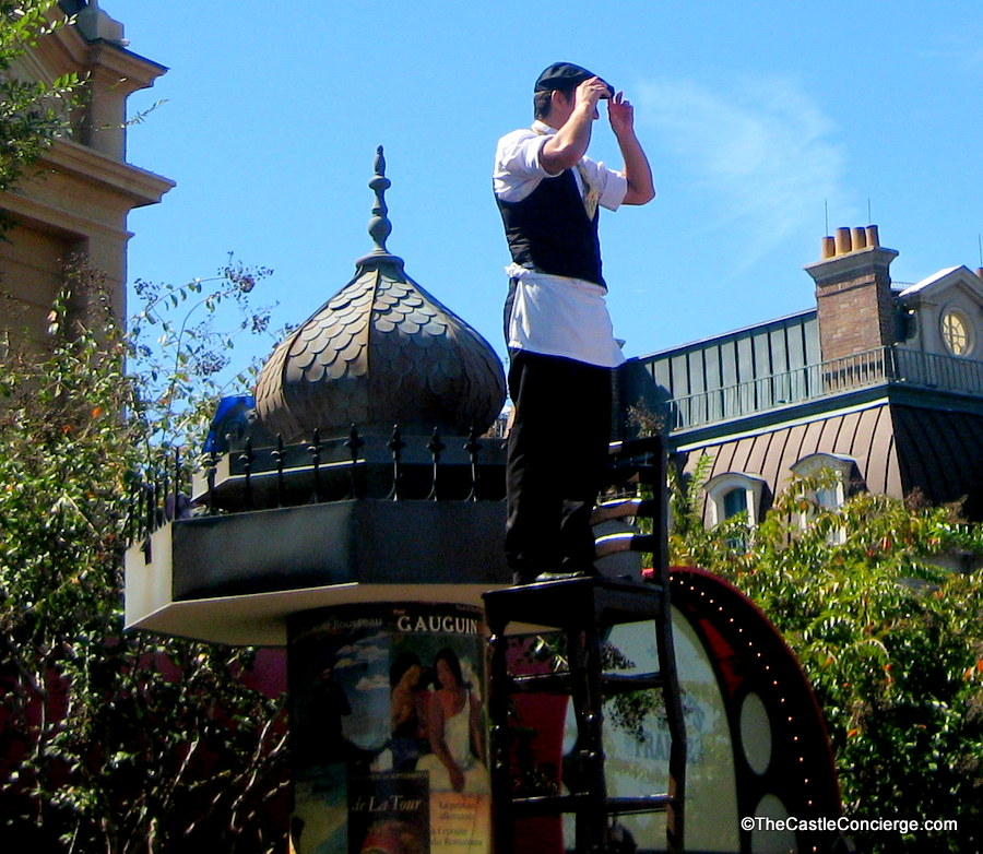French acrobat in Epcot