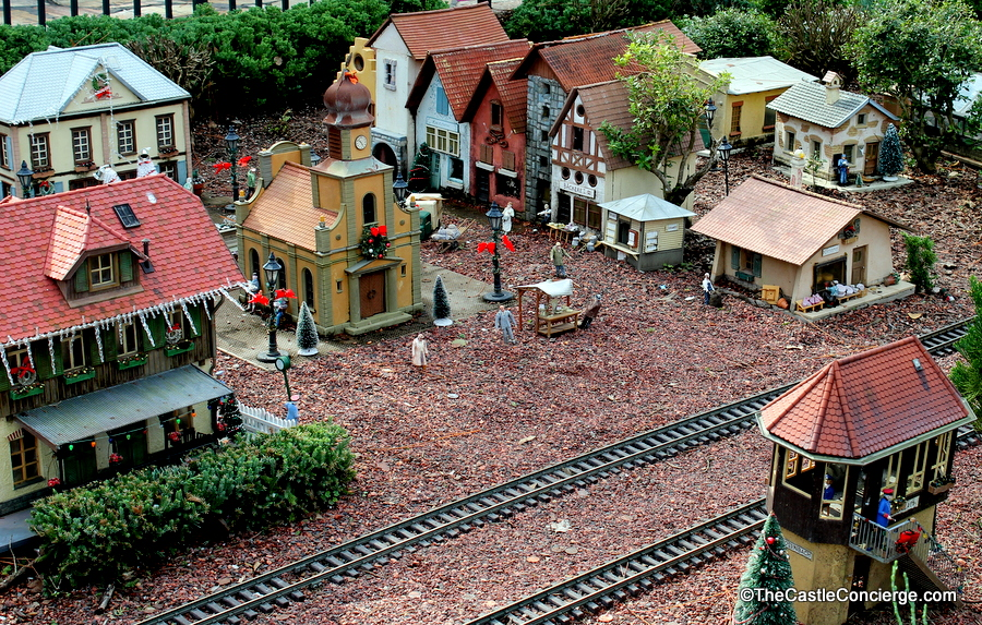 Model train village in Epcot's Germany