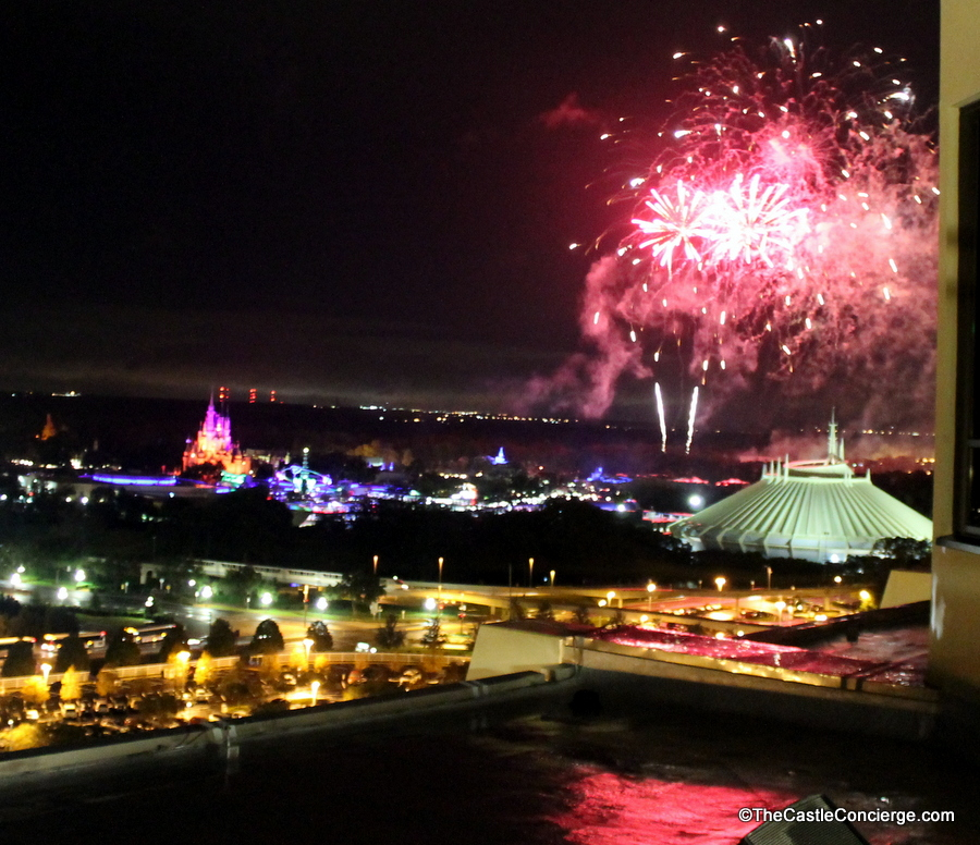 Magic Kingdom's Fireworks from California Grill's Observation Deck