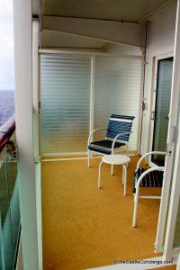 Nice size balcony on Royal Caribbean's Freedom class ships