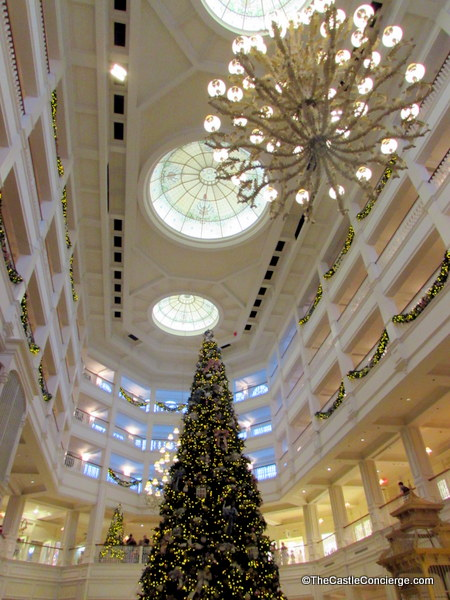 Christmas Tree at Disney's Grand Floridian resort.