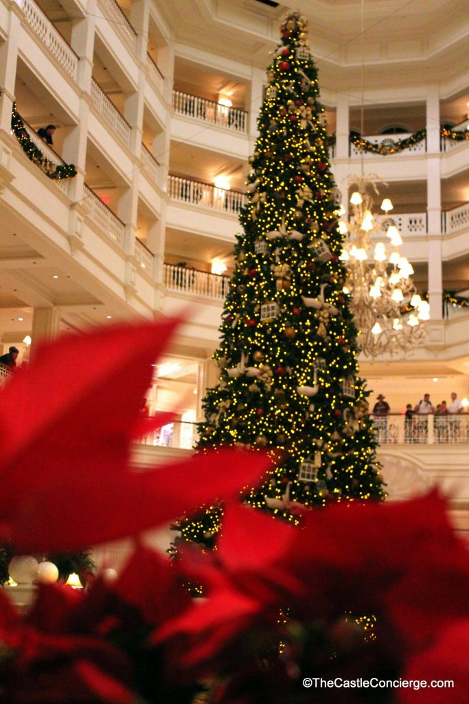 Disney's Grand Floridian during the holiday season features a beautiful tree.