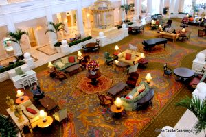 The Grand Floridian lobby is a relaxing place to hang out at WDW.