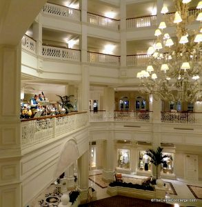 Disney's Grand Floridian Lobby is a quiet respite.