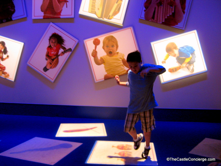 Child playing in Epcot's ImageWorks