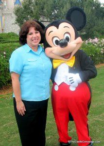 Kim LaPaglia with Mickey Mouse at Magic Kingdom