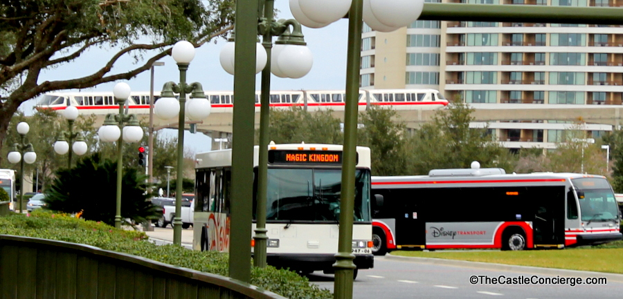 Magic Kingdom Bus and Monorail Transportation Walt Disney World