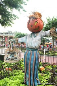 Not-so-scary scarecrow in the Magic Kingdom.