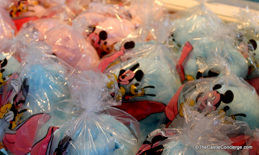 Cotton candy bags at Main Street Confectionery