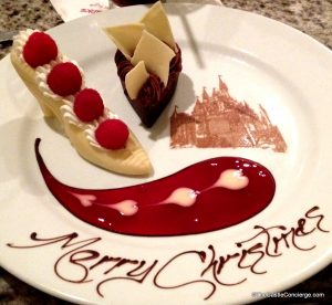 Merry Christmas Slipper Dessert Grand Floridian Cafe Christmas Eve