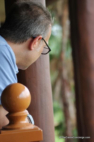 Guest admires view at Animal Kingdom Lodge Kidani Villas