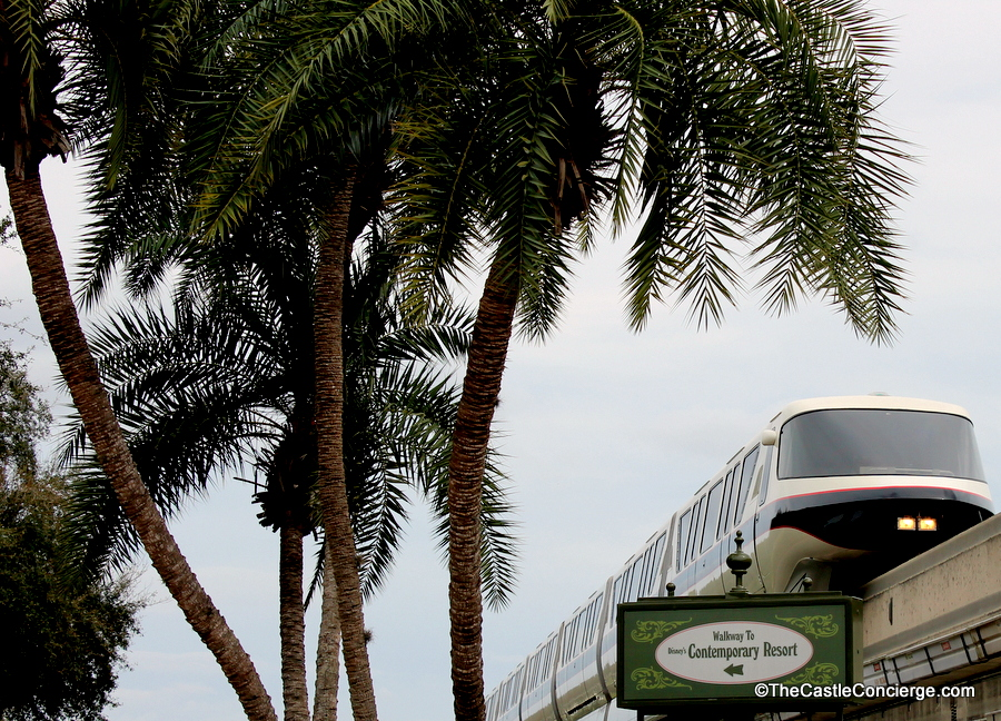 Monorail and Walkway to Disney's Contemporary Resort